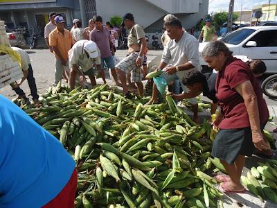 Resultado de imagem para imagens de milho verde em frente ao banco do brasil sao paulo do potengi