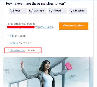 cara berhenti berlangganan jobsdb email
