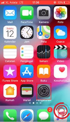Buka menu Pengaturan di iPhone kalian untuk mengatifkan fitur mode malam/dark mode