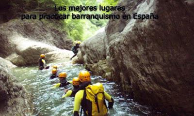los mejores lugares para hacer barranquismo en espana
