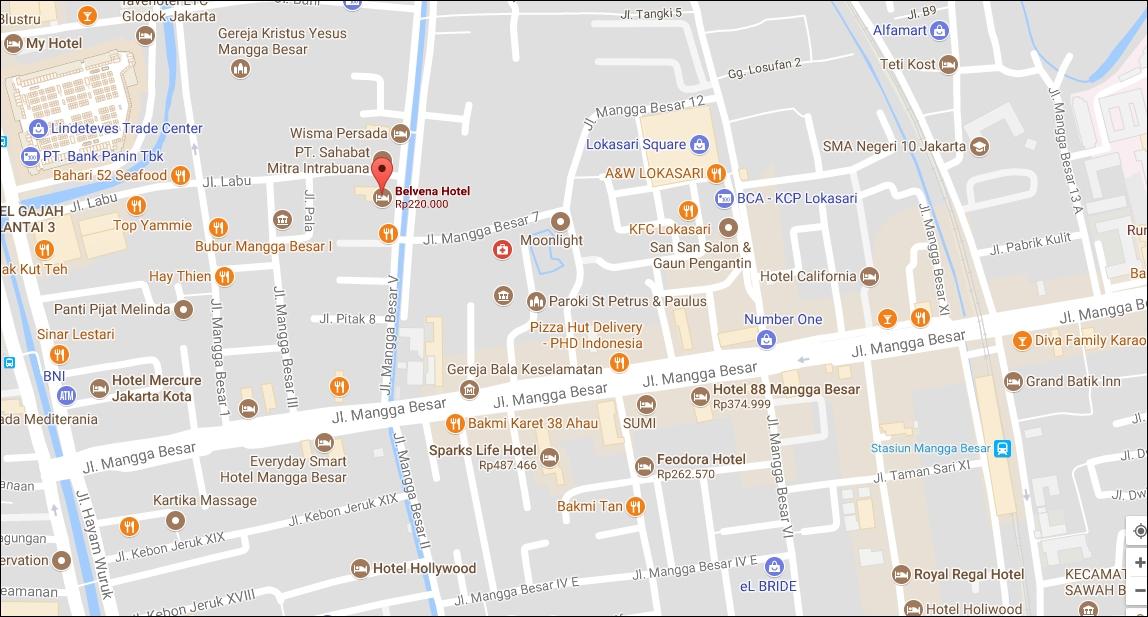 Hotel Tersebut Yaitu Belvena Yang Berlokasi Di Jalan Mangga Besar V No 49A Taman Sari Jakarta Barat Untuk Telponnya Bisa 021