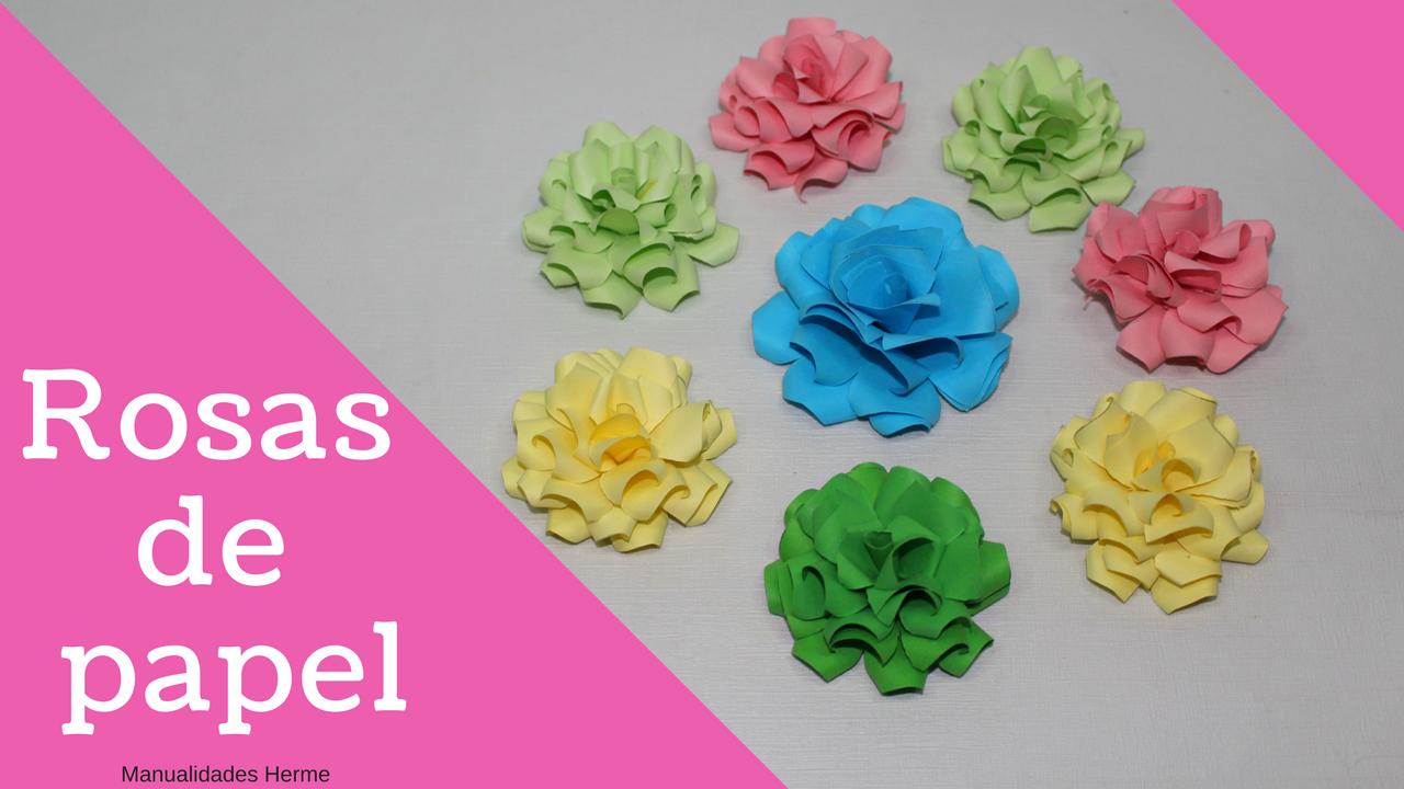 Manualidades herme como hacer rosas de papel for Rosas de papel