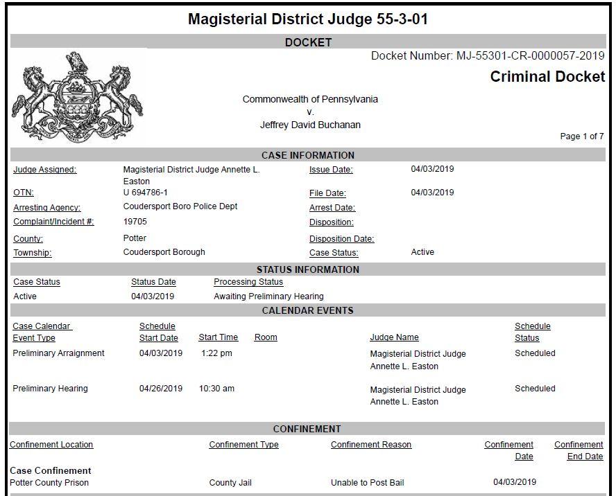 Wellsville Regional News (dot) com: Coudersport man jailed