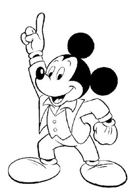Gambar Mewarnai Mickey Mouse - 9