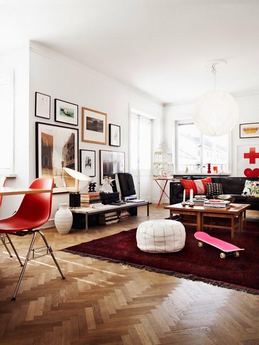 Inspiraci n de estilo n rdico un toque de rojo tr s for Design nordico on line