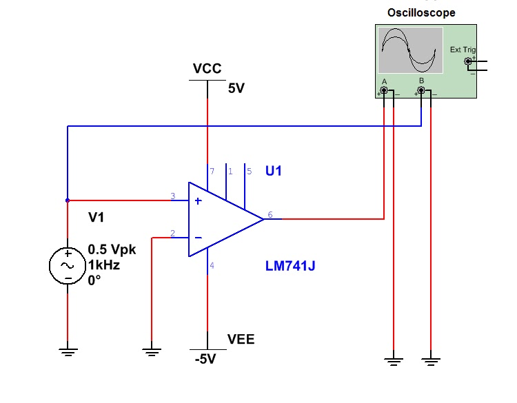 Circuit Diagram Of Non Inverting Amplifier Mitsubishi Canter Electrical Wiring The Answer Is 42 Op Amps And Amplifiers 741 With No Gain
