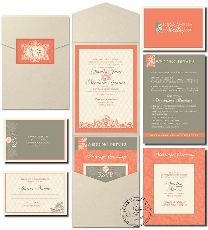 Wedding Invitation Blog: Garden Pocket Wedding Invitation