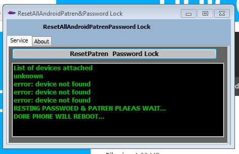 All Android Pattern,Pin & Password Lock Reset Tool 100% Working Free Download