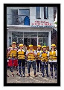 Guha Bau merupakan nama dari Sekertaiat kami, nama ini Di ambil dari sebuah goa yang biasa oleh wisatawan awal muali Body Rafting (Start)