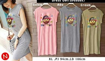 Jual Baju Wanita Dress Owl - 12264