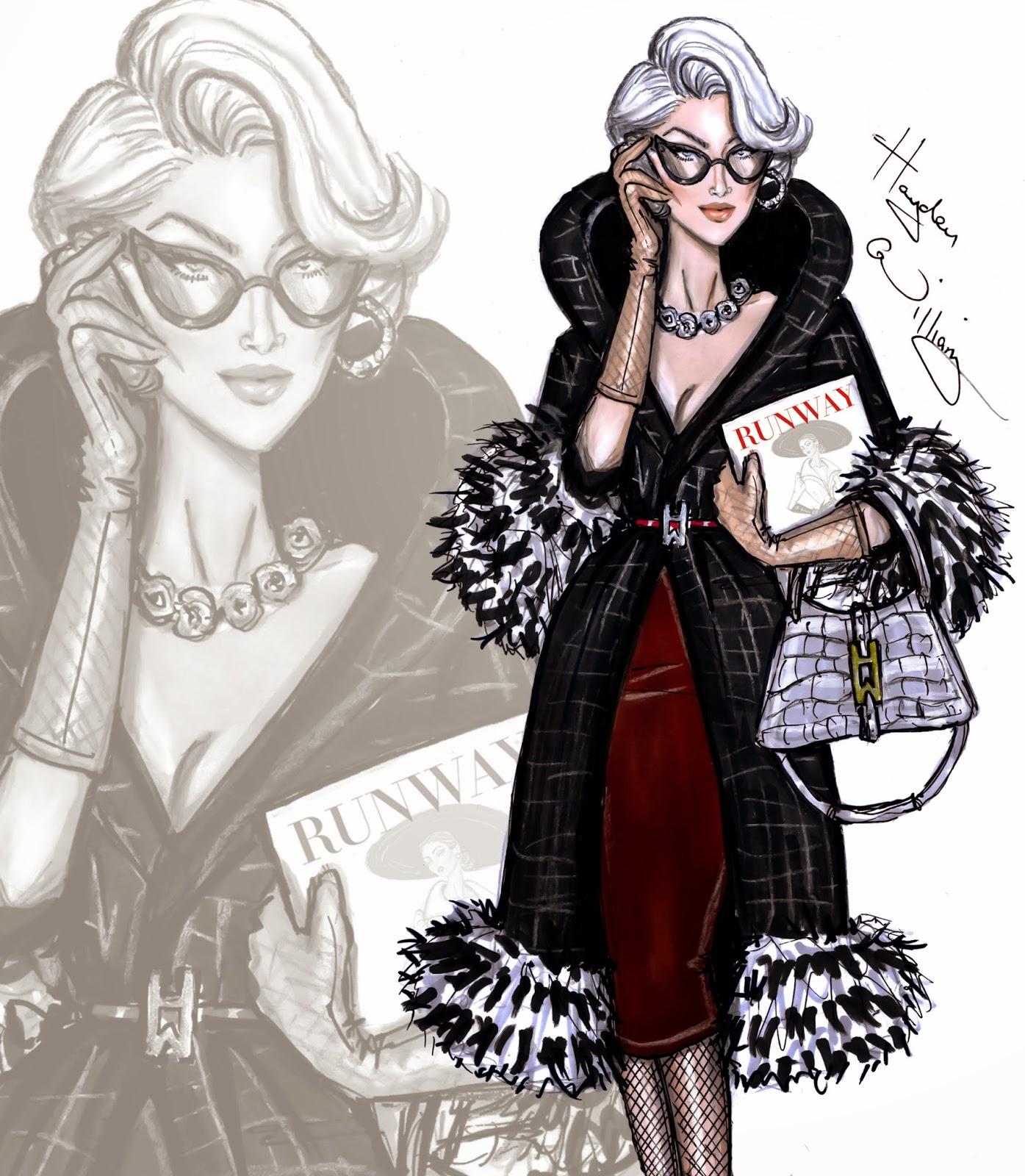 Hayden Williams Fashion Illustrations Miranda Priestly By Hayden Williams