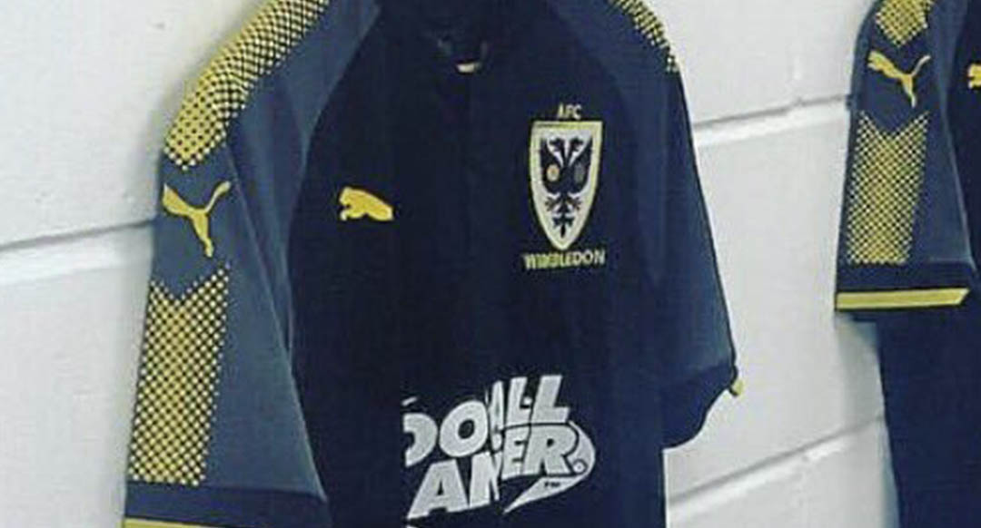 efc53d3316c The new AFC Wimbledon 17-18 third jersey is made by the club s new kit  maker Puma