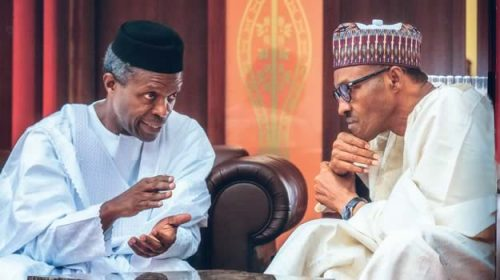 President Buhari Hand Over Power to VP Osibanjo