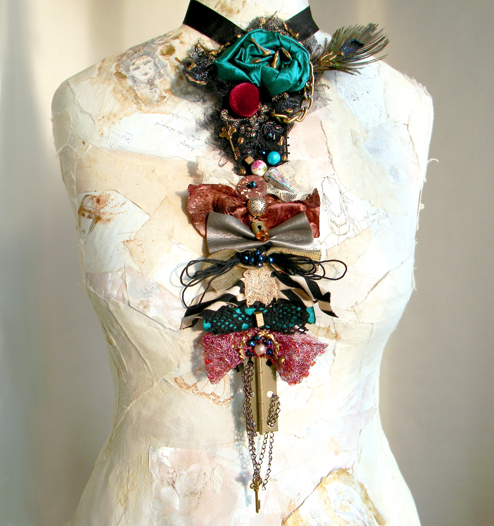 Unique Handmade Necktie Necklace Fashion Steampunk Chic