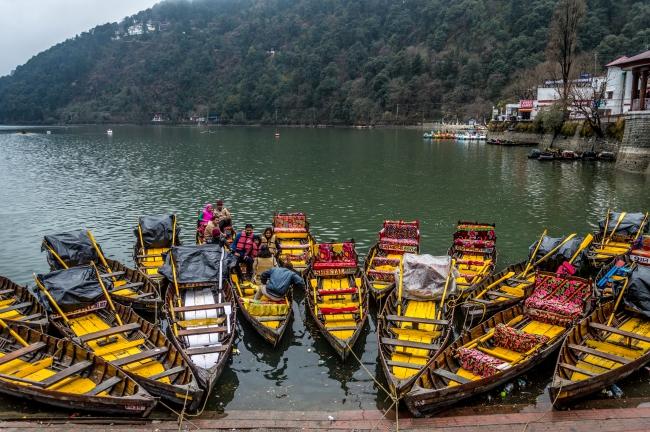 Boats at Naini Lake