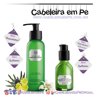 Peeling Líquido E Emulsão Antipoluição Drops Of Youth - The Body Shop (Peeling sem petrolatos e sem sulfatos e serum sem sulfatos petrolatos e silicones)