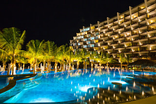 Grand Velas Los Cabos resort and one of its three pools