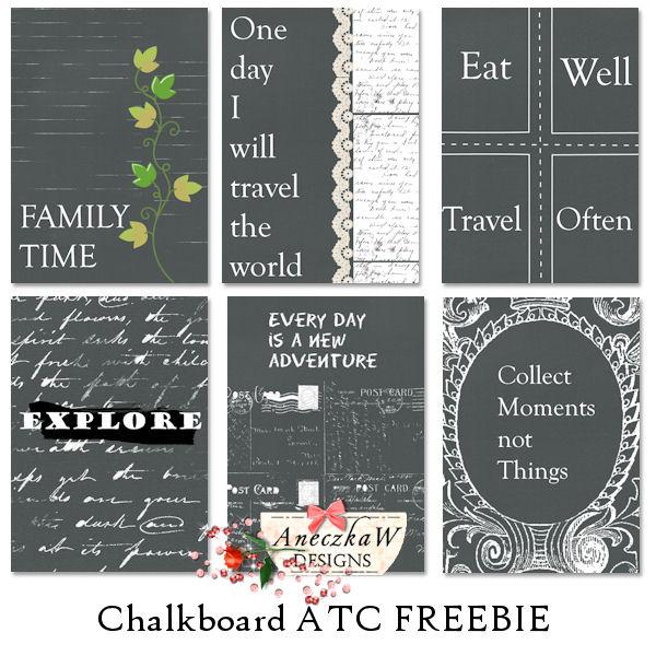 Chalkboard ATC Freebie !