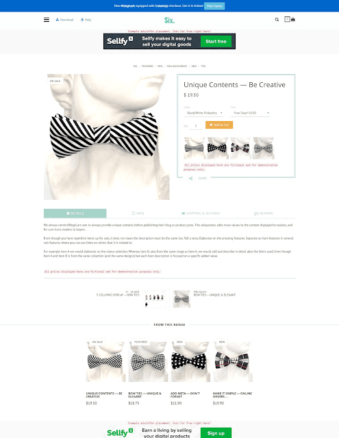 Free template shopping BlogrCart SIX - Giaodienblog.com