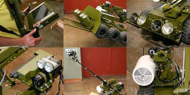 Общий вид мобильного робототехнического комплекса сверхлегкого класса для разведки и огневой поддержки «Металлист»
