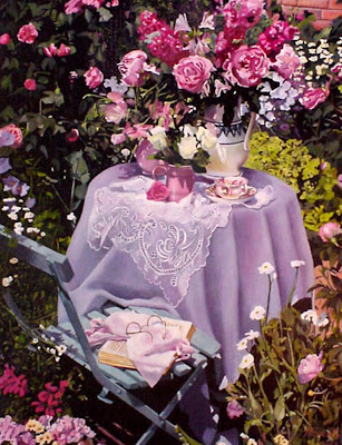 Imágenes Arte Pinturas: Lindos paisajes con flores