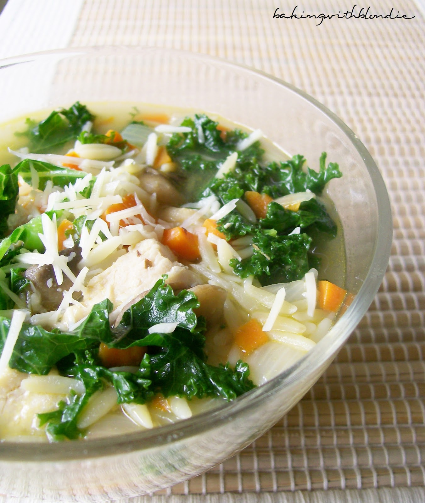 Chicken And Orzo Soup With Kale