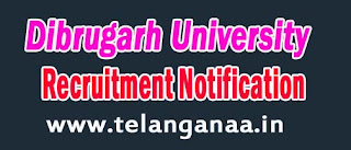 Dibrugarh University Asst Prof in Electronics and Communication-Engg Recruitment Notification