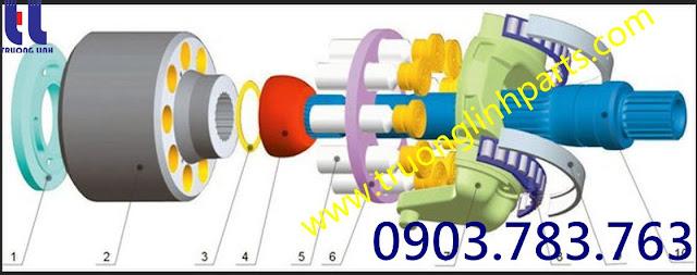 phụ kiện ruột bơm A4VG90  A4VTG90 Rexroth- Uchida