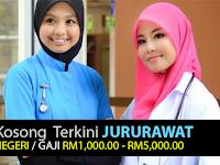 KEKOSONGAN JAWATAN JURURAWAT DI PELBAGAI NEGERI - RM1,000.00 - RM5,000.00