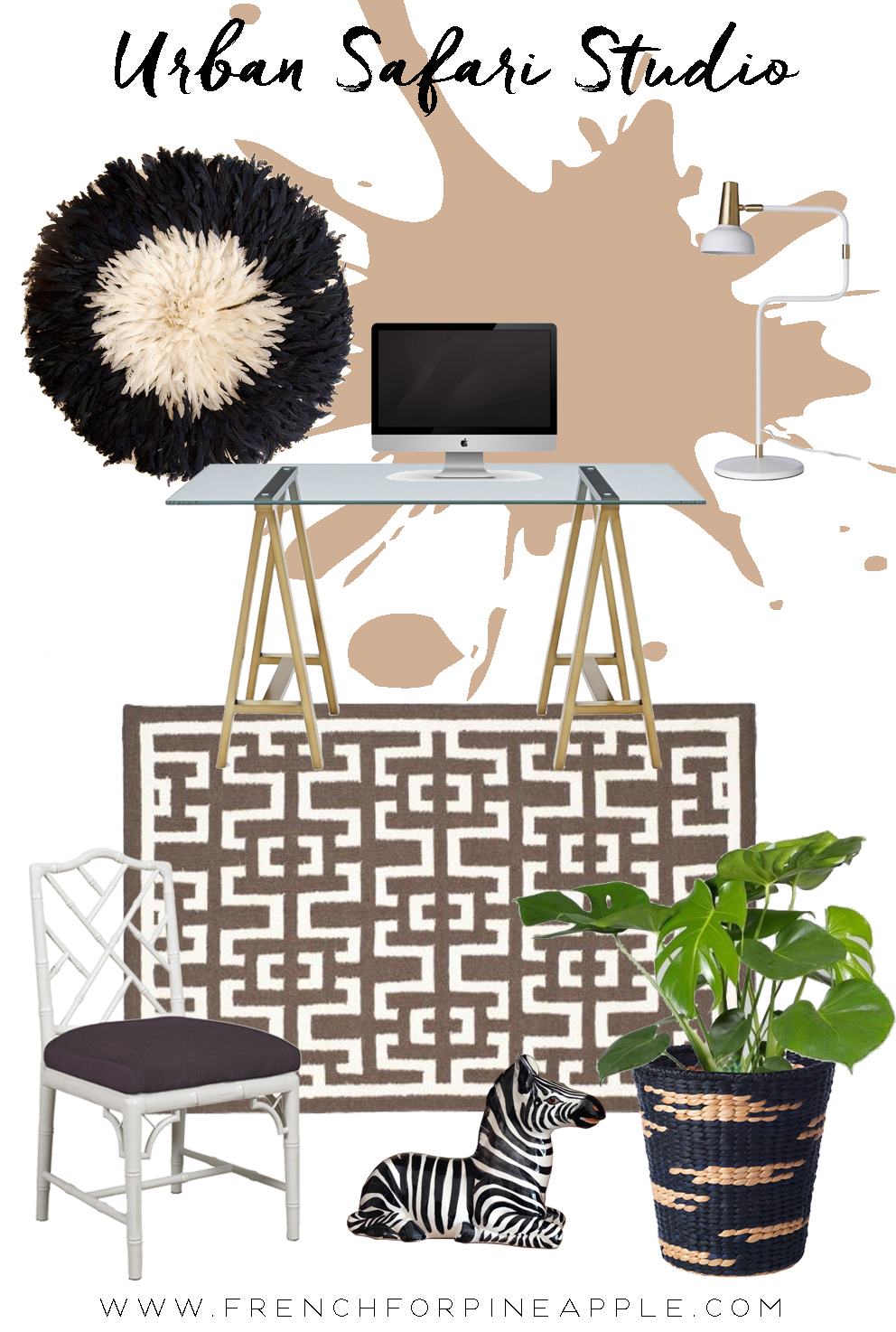 French For Pineapple Blog Urban Safari Studio Moodboard