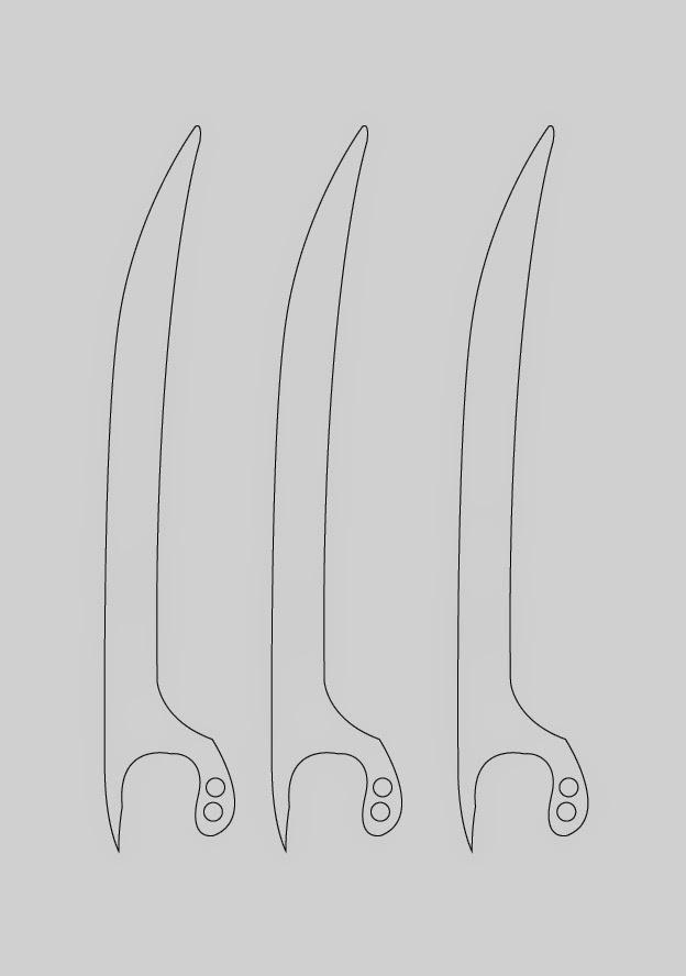 Dali-Lomo X-Men Wolverine Prop Claws - Cardboard DIY (with template)