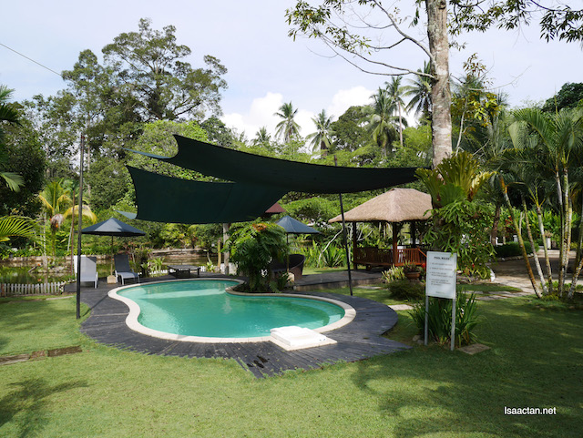 Even the swimming pool looks good among the greens