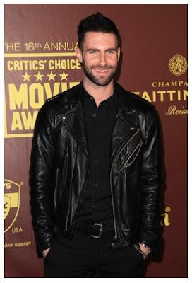 Gambar Jaket Kulit Adam Levine Maroon 5