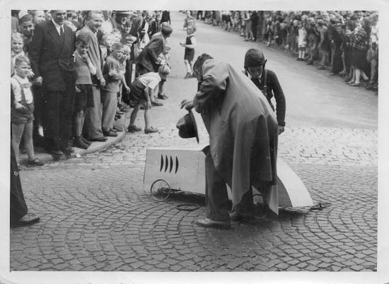 2. Bergsträßer Seifenkistlrennen 1951 - Fotos: Privatarchiv Klaus Hübner, Bensheim