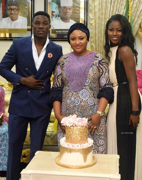 Ex-housemates, Debie Rise and Bassey stun at Kogi first lady's birthday celebration