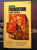 Second Foundation,  by Isaac Asimov, superimposed on Intermediate Physics for Medicine and BIology.