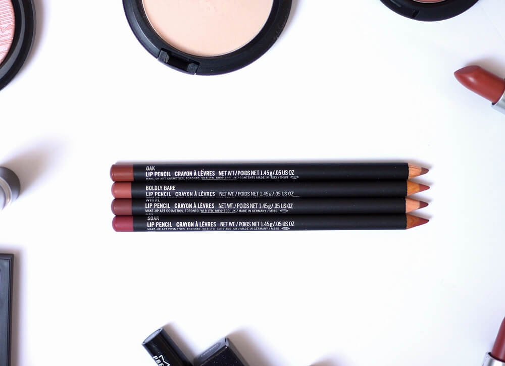 MAC LIP PENCIL [Oak, Boldly Bare, Whirl i Soar] review recenzija