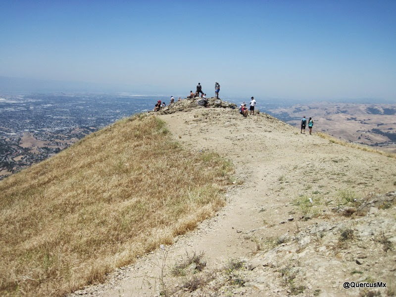 Llegando a Mission Peak