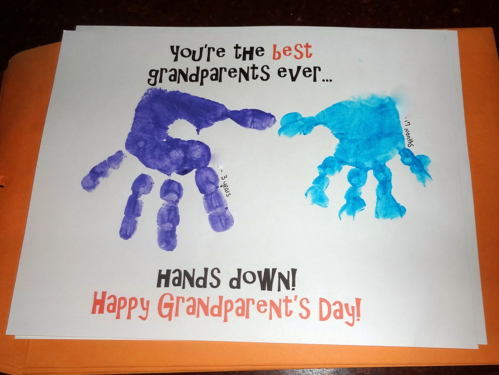 Mom S Tot School Grandparent S Day Cards