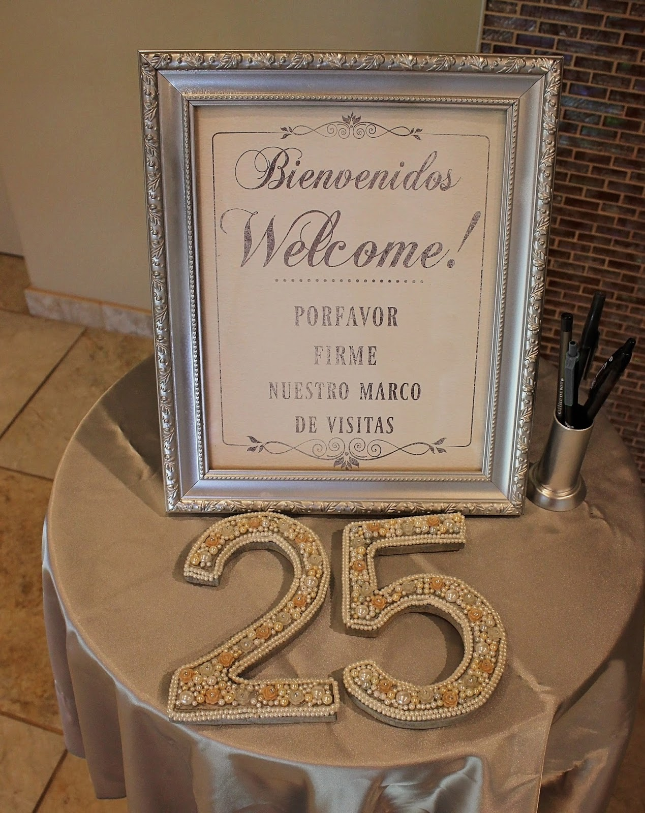 Spanish Wedding Signs Silver Wedding Printables Haciendo