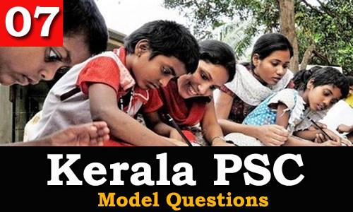Kerala PSC - Model Questions English - 07