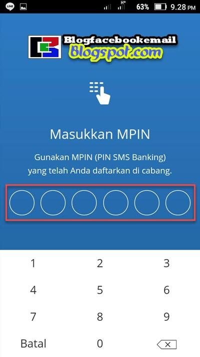 cara mengisi pin aplikasi mandiri online