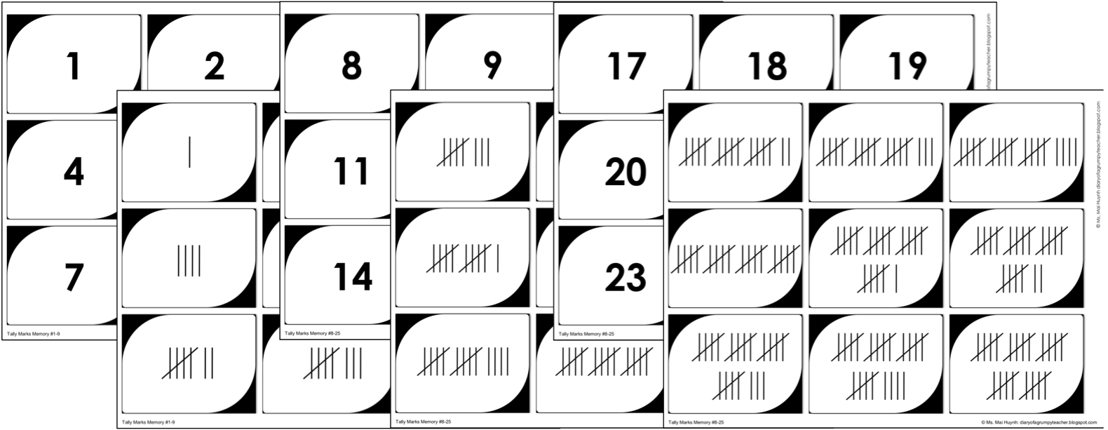 Tally Marks Practice Worksheets (Differentiated)