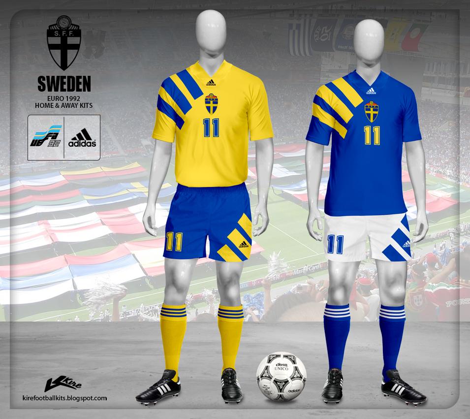 Kire Football Kits Sweden Kits Euro 1992