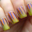 40 Great Nail Art Ideas - Orange, Purple and Green
