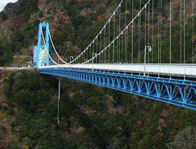茨城県・竜神大吊橋でのバンジージャンプ