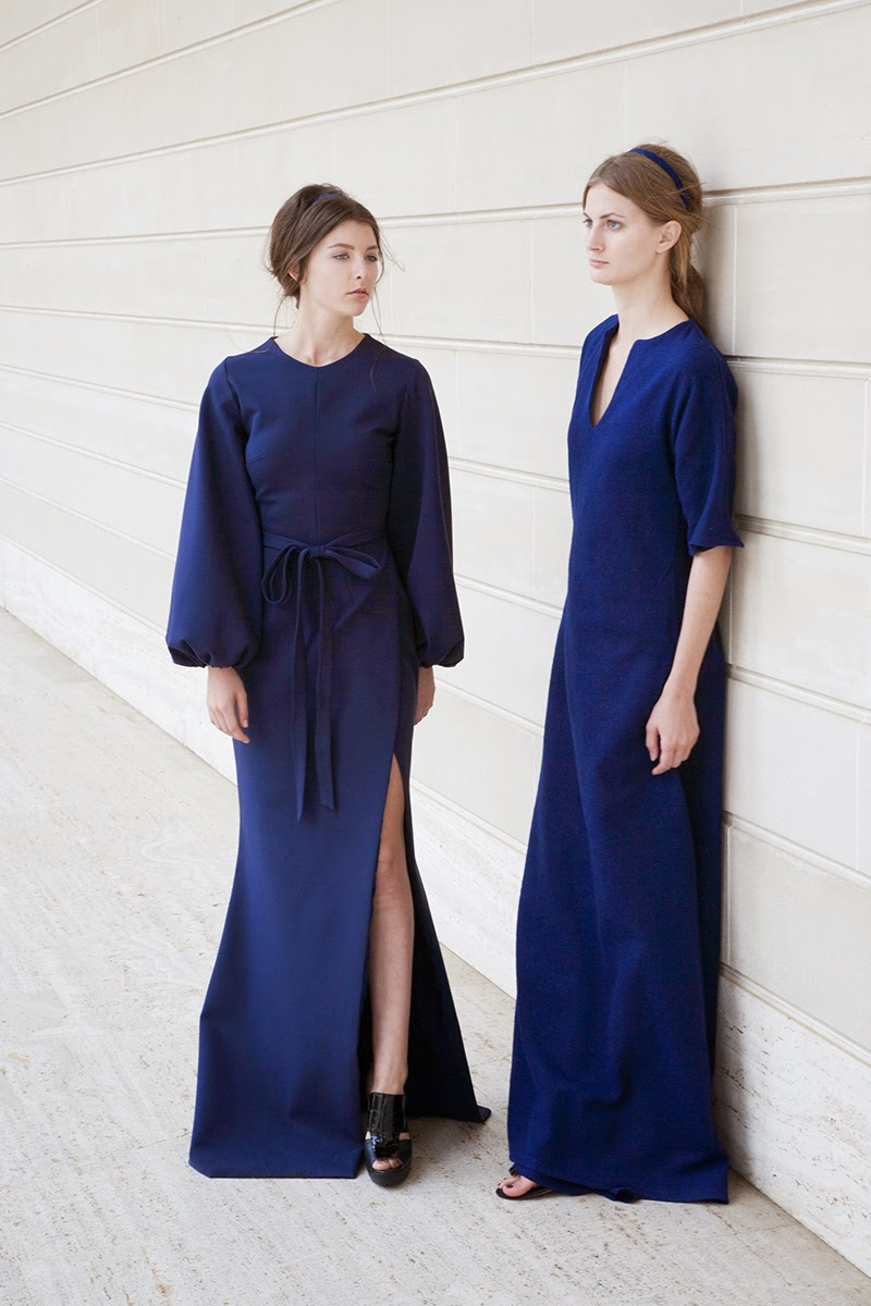 alyssa nicole fall 2014, alyssa nicole designer, san francisco, san francisco fashion, lookbook, couture, kimono, gown, bell sleeve gown, bell sleeve maxi dress, kimono maxi dress, navy dresses, blue dress,