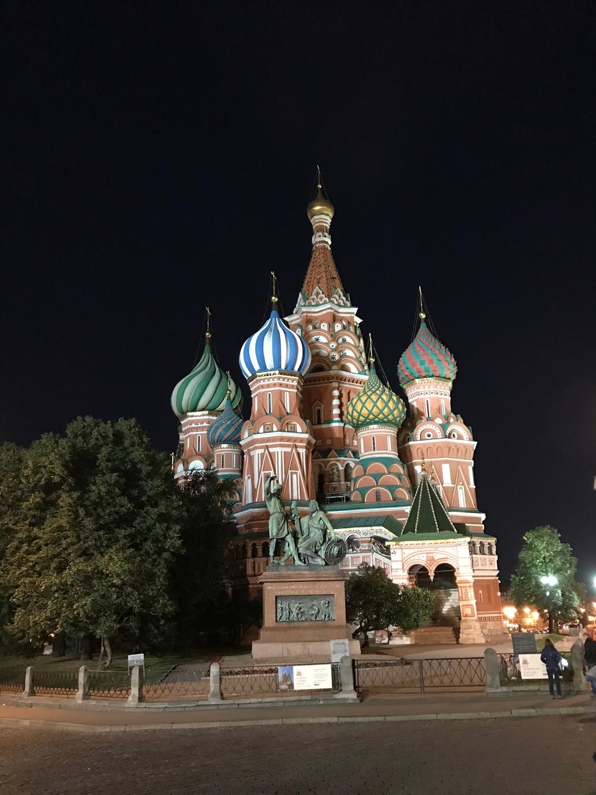 Catedral de São Basílio à noite - Moscou