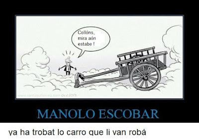 Manolo Escobar ya ha trobat lo carro que li van robá