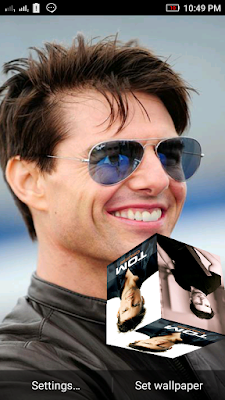 Tom Cruise 3D live Wallpaper For Android Mobile Phone